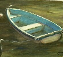 The Blue Dinghy by ajnorthover