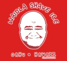 Hawaii 5-0 Waiola Shave Ice Logo (Red + Halo) by Sharknose