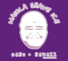 Hawaii 5-0 Waiola Shave Ice Logo (Pink + Halo) by Sharknose
