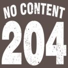 Team shirt - 204 No Content, white letters by JRon