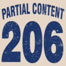 Team shirt - 206 Partial Content, blue letters by JRon