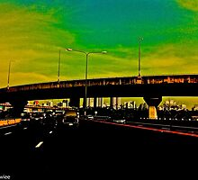 In the rush hour Bangkok... by Kornrawiee