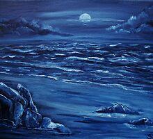 Blue moon rising by Susie Hawkins