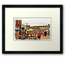 Up and Down the Strip Framed Print
