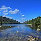 View of Jordan Pond by Lynda Lehmann