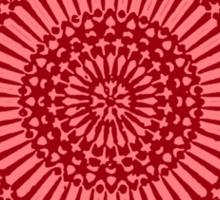 red root chakra mosaic circle Sticker