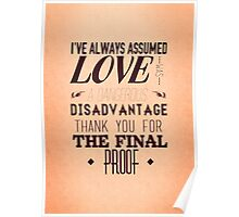 Love is a Disadvantage  Poster