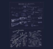 303  Lee Enfield Rifle Blueprint T shirt by NemesisGear