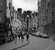 Cockburn street in black and white by Jamie Douglas