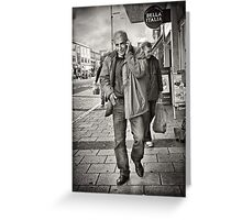 """""""I'm on the phone"""" - street photography Greeting Card"""
