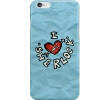 I ♥ Sherlock iPhone Case/Skin