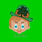 Boy Leprechaun iPhone case design by Dennis Melling