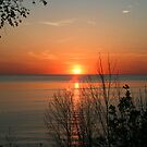 sunset over lake Huron by Jason Dymock