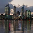 Perth City Skyline 2012 by Glen  Robinson