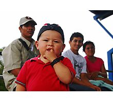 Costa Rican family Photographic Print