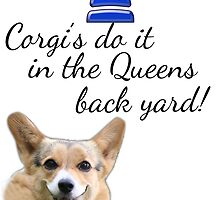 Corgi's do it in the Queens back yard by clippingpath1