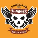Portland Zombies Track Club Crest (light) by Rob DeBorde