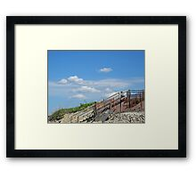 Boardwalk in the Dunes Framed Print