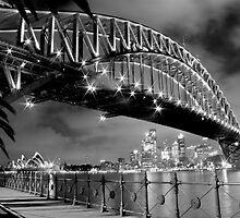 Sydney Harbor at Night by LieselMc