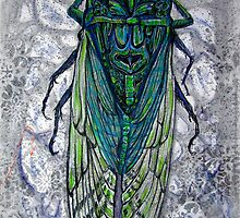 Bejeweled Cicada by evon ski