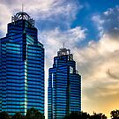 Checkmate - King and Queen Towers in Atlanta by Mark Tisdale