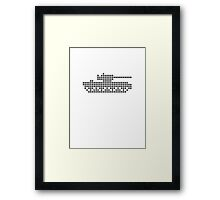 PIXEL8 | Army Tank | Black Ops Framed Print