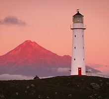 Cape Egmont Lighthouse - Taranaki Coast  New Zealand by Mark Shean