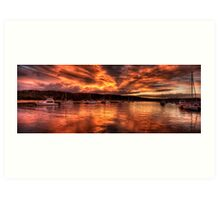 Burn For You - Newport, Sydney Australia - The HDR Experience Art Print