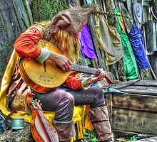 Roadside Minstrel Playing   by bannercgtl10
