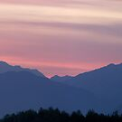 Kamnik Alps sunset by Ian Middleton