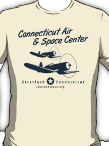 Connecticut Air & Space Center Corsair Design (Blue)  T-Shirt