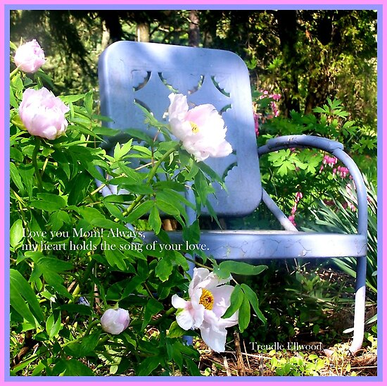 Mother's Day Chair in the Garden by TrendleEllwood