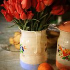 Shomali Tulips in a Pitcher by David R. Anderson
