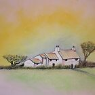 Cottage with Pastels by Steve's Fun Designs