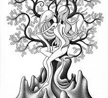 068. Fairy of the Cypress Tree by Attila Vagvolgyi