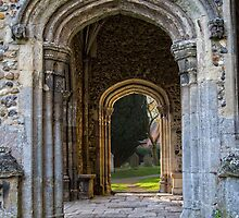 Porch at Thaxted Church by Nigel Bangert