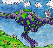 Priscilla the Purple Kangaroo by kewzoo