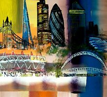 City London Olympics painting by Eraclis Aristidou