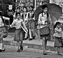 Pokhara School Girls by Valerie Rosen