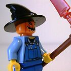 Scary Scarecrow Minifigure with Scythe iPhone iPod Case by Customize My Minifig by Chillee