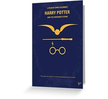 No101 My Harry Potter minimal movie poster Greeting Card