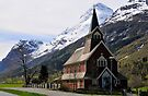The new church at Olden, Norway by buttonpresser