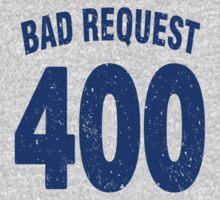 Team shirt - 400 Bad Request, blue letters Kids Clothes