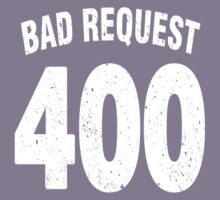 Team shirt - 400 Bad Request, white letters Kids Clothes