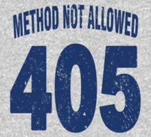 Team shirt - 405 Method Not Allowed, blue letters Kids Clothes