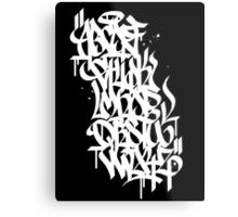 Graffiti Alphabet Metal Print