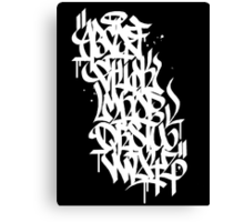 Graffiti Alphabet Canvas Print