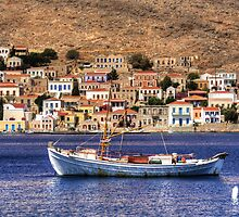 Halki Fishing Boat by Tom Gomez