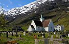 The old church at Olden, Norway by buttonpresser
