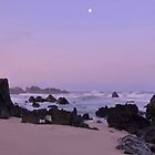 Moonset At Dawn - Big Sur by Stephen Vecchiotti